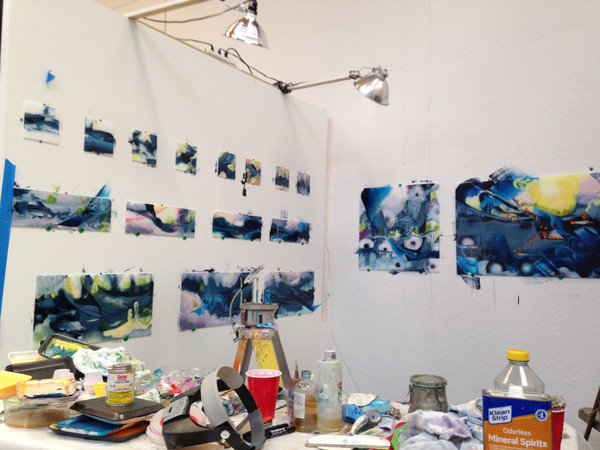 Studio in  Atlantic Center for the Arts  2015